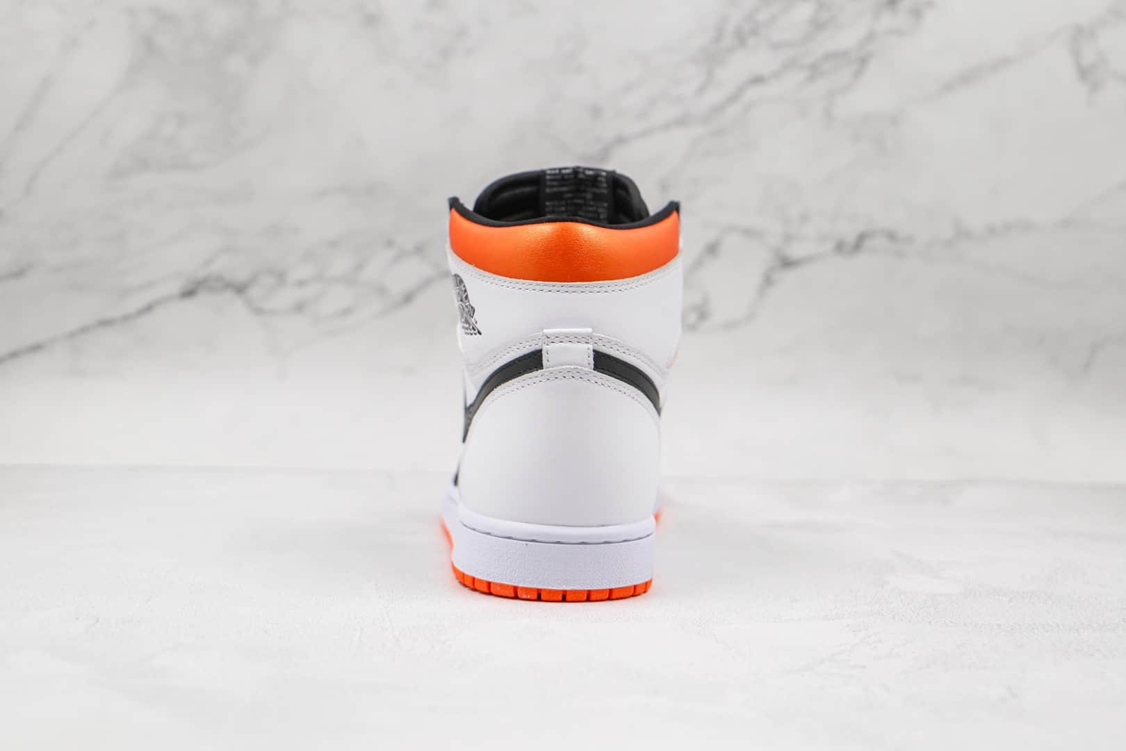 乔丹Air Jordan 1 High OG Black Toe Shattered Backboard纯原版本高帮AJ1白黑橙色扣碎篮球鞋原盒原标 货号:555088-180