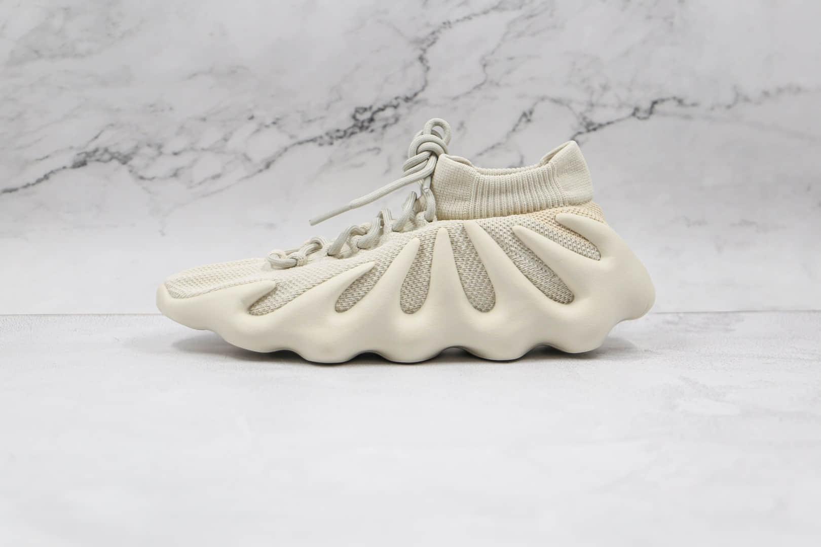 阿迪达斯椰子450白色火山编织袜套鞋出货