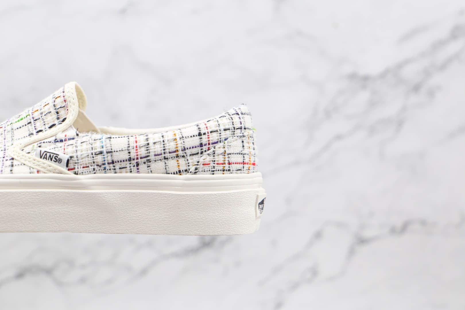 万斯Vans Authentic 44 DX公司级版本高定系列懒人一脚蹬小香风低帮帆布板鞋奶白色原楦开发 货号:VN0A5KS96SV