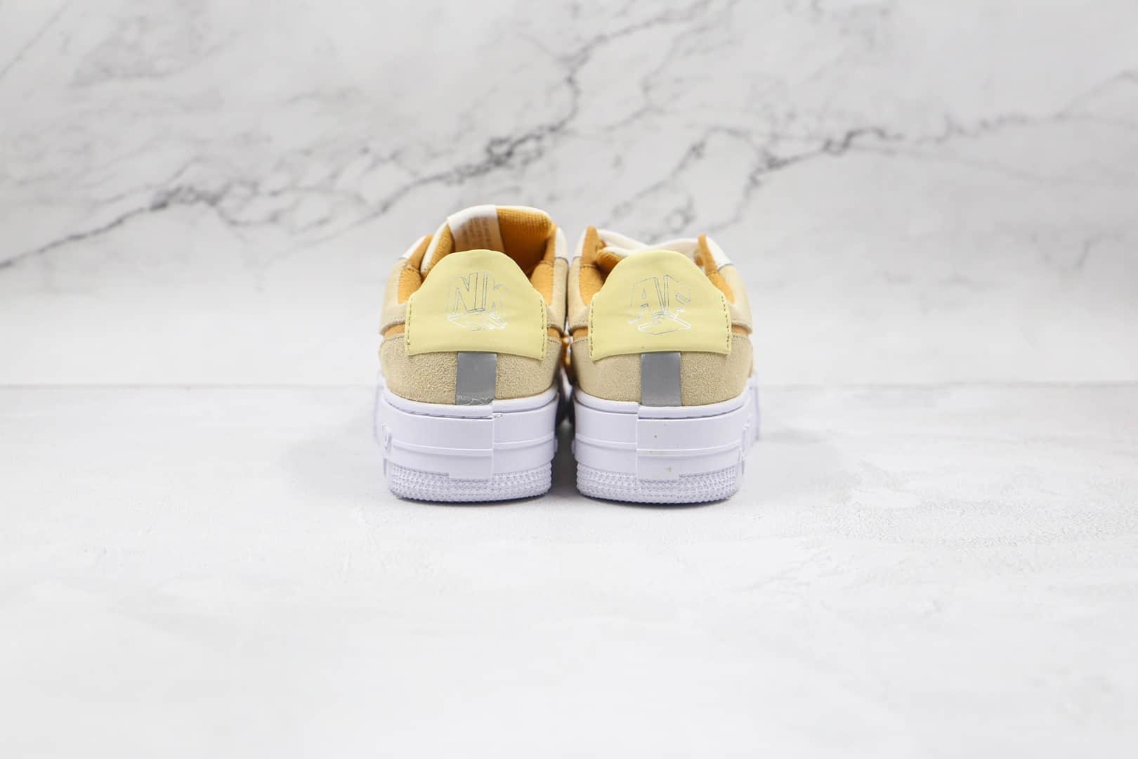 耐克Nike Air Force 1纯原版本空军一号低帮AF1解构板鞋奶茶米黄色原盒配件 货号:DH3856-100