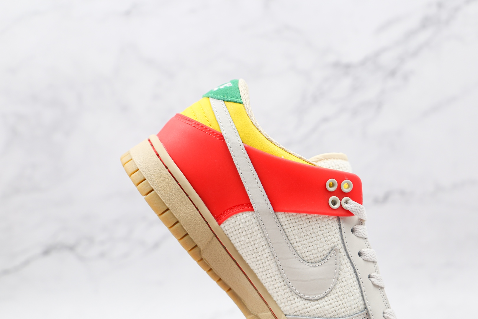 耐克Nike Air Zoom Dunkesto纯原版本低帮DUNK白灰红色平色陈奕迅同款板鞋原档案数据开发 货号:316272-201