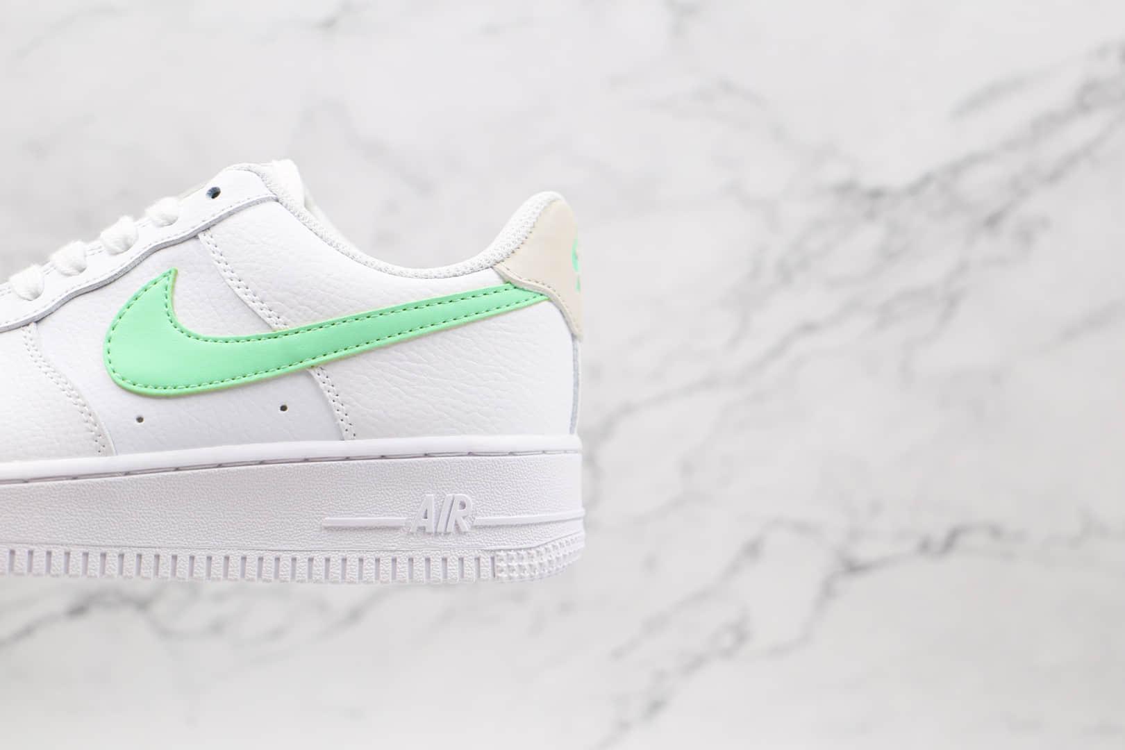 耐克Nike AIR FMRCE 1纯原版本低帮空军一号白青色板鞋原档案数据开发 货号:315115-164