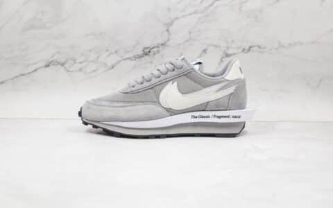 耐克Fragment Design x Sacai x Nike LDV Waffl纯原版本藤原浩闪电联名解构双底华夫跑鞋灰色双钩原底原面 货号:DH2684-001