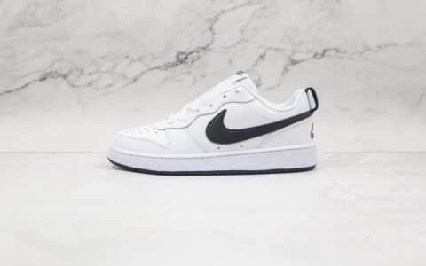 耐克Nike Court Borough Low 2(GS)纯原版本低帮板鞋白黑色原数据开发版型 货号:BQ5448-108