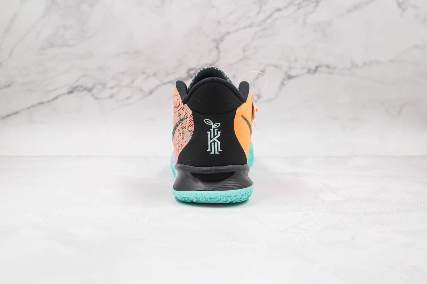 耐克Nike Kyrie 7 EP纯原版本欧文7代全明星黑橙绿色篮球鞋内置气垫支持实战 货号:DD1446-800