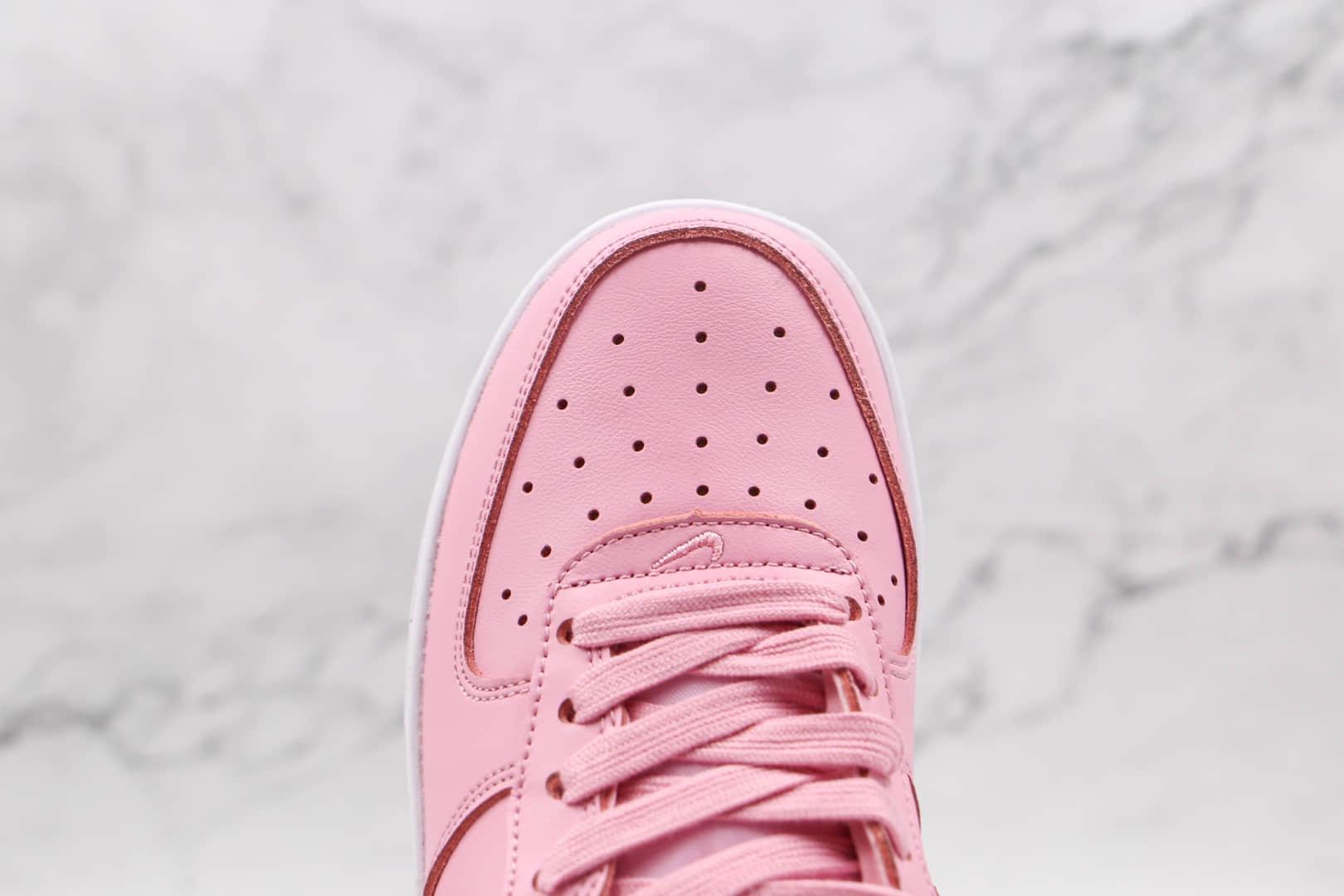 耐克Nike Air Force 1´07 Pink Red Rose纯原版本低帮空军一号粉玫瑰皮面板鞋原档案数据开发 货号:CU6312-600