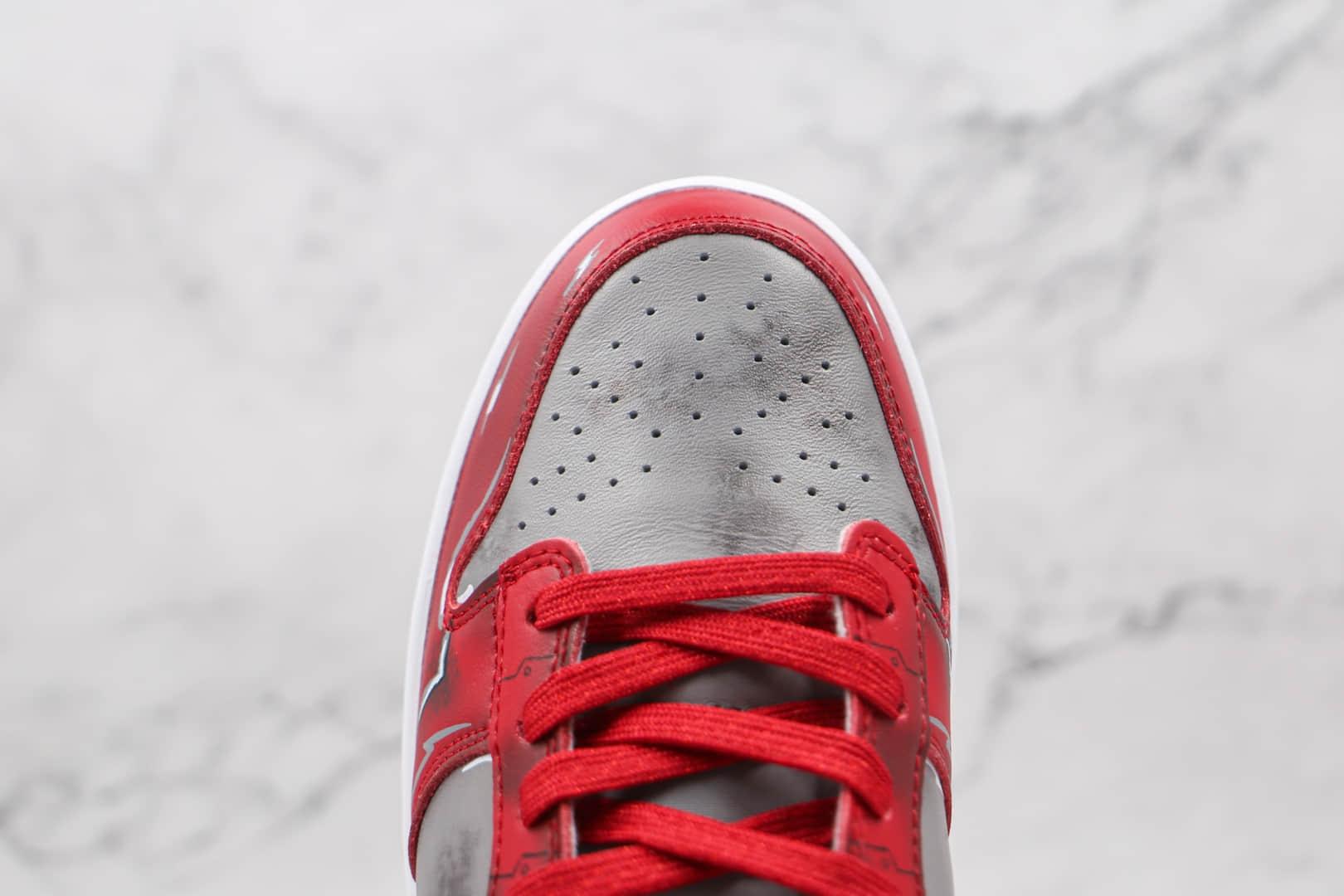 耐克Nike Dunk SB Low UNLV纯原版本低帮SB DUNK钢铁侠灰红色板鞋原档案数据开发 货号:DD1391-002