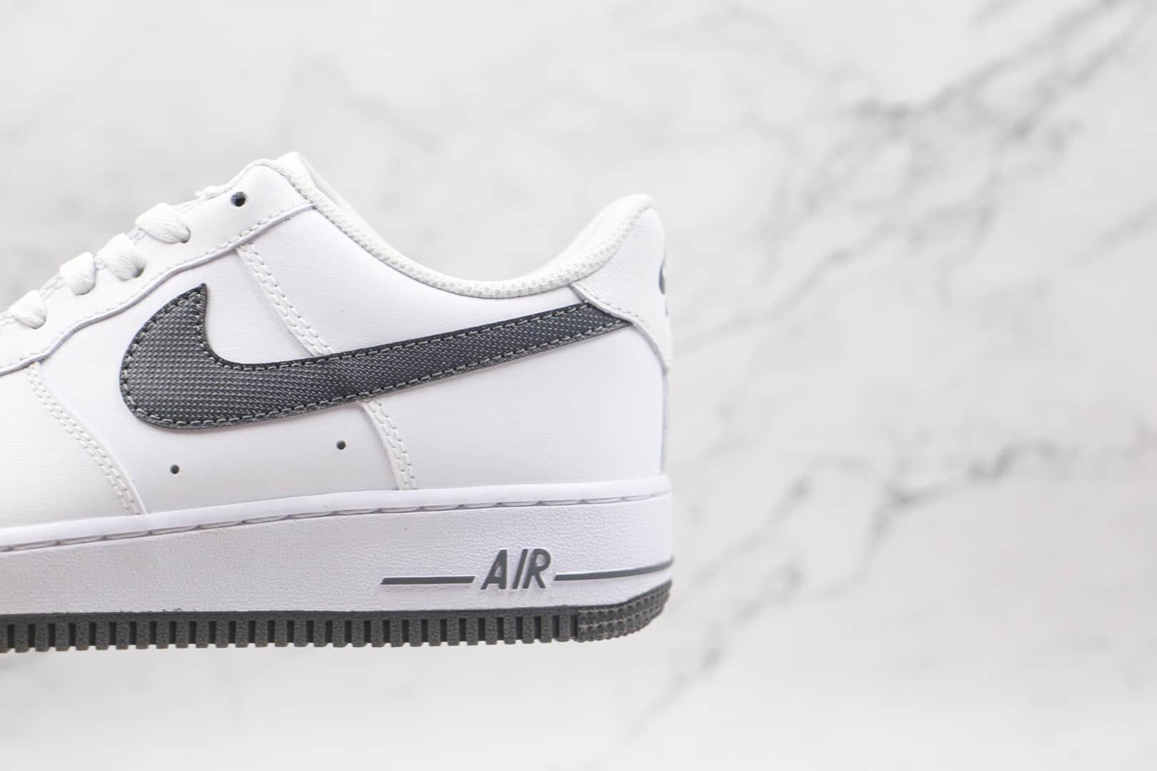 耐克Nike AIR FMRCE 1纯原版本低帮空军一号白深灰色板鞋原档案数据开发 货号:DJ4617-100
