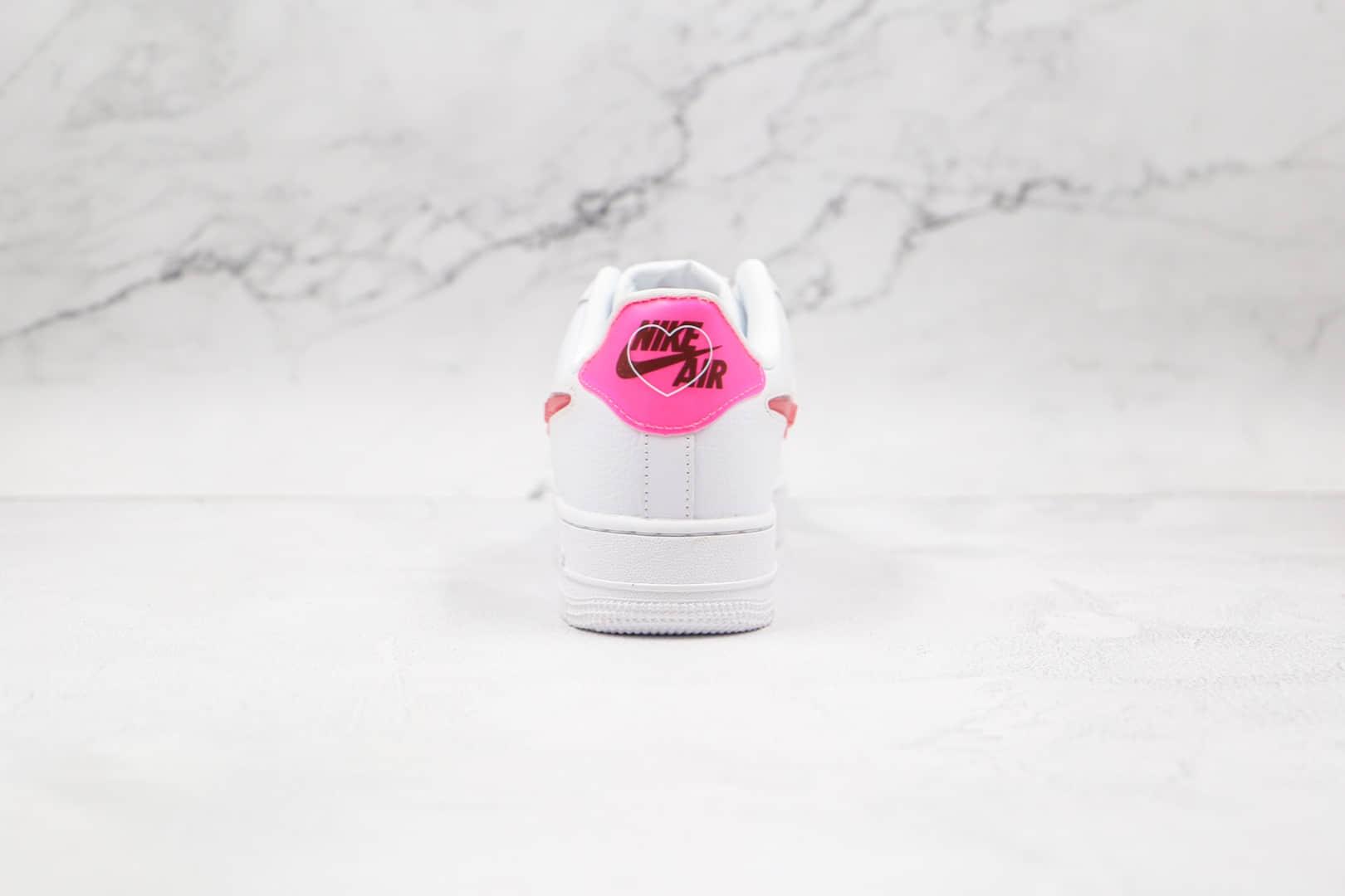 耐克Nike Air Force 1 Low Love For All纯原版本低帮空军一号白粉红色情人节板鞋内置气垫 货号:CV8482-100