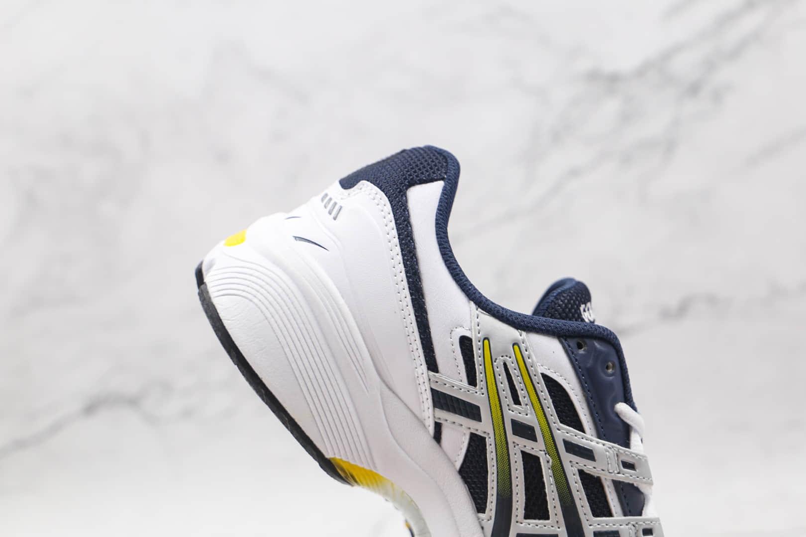 亚瑟士ASICS GEL-1090纯原版本白深蓝黄色复古跑鞋原楦头纸板打造 货号:1021A275-400