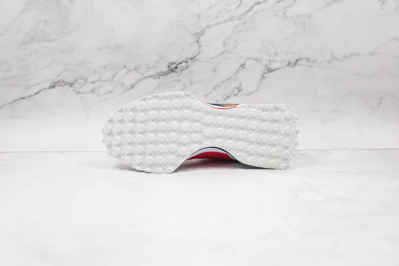 新百伦New Balance 327纯原版本复古慢跑鞋NB327网面白蓝鸳鸯配色原档案数据开发 货号:MS327BTK