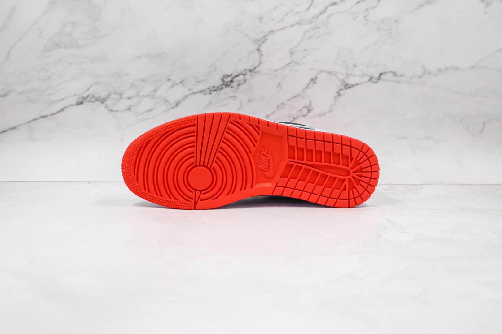 乔丹Air Jordan 1 Low纯原版本低帮AJ1篮球鞋黑灰红色原档案数据开发 货号:553558-022