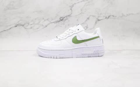 耐克Nike Air Force 1 Pixel纯原版本空军一号低帮解构板鞋白绿色内置全掌Solo气垫 货号:CK6649-005