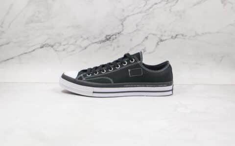 匡威Fragment x Moncler x Converse 1970S公司级版本藤原浩闪电联名陈伟霆同款1970s帆布鞋黑白撞色蓝底双围条 货号:169069C