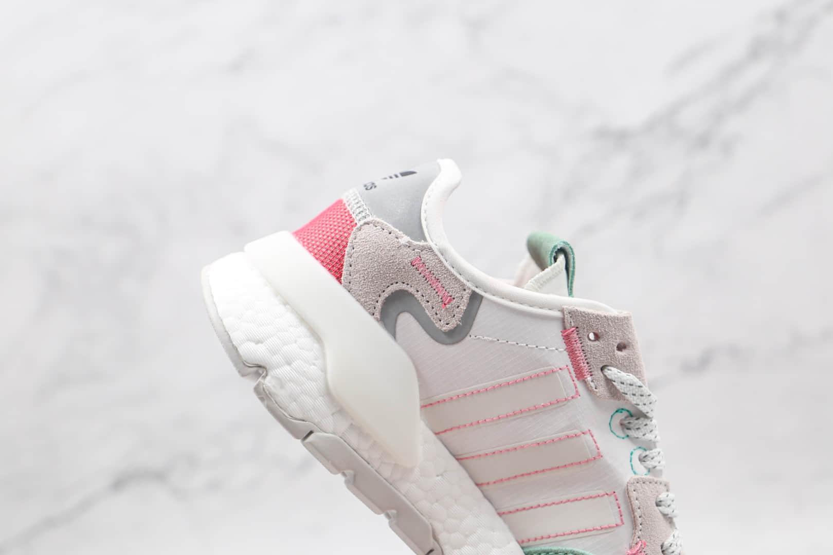 阿迪达斯Adidas Nite Jogger 2019 Boost纯原版本夜行者一代灰绿色爆米花跑鞋原楦头纸板打造 货号:HO3251