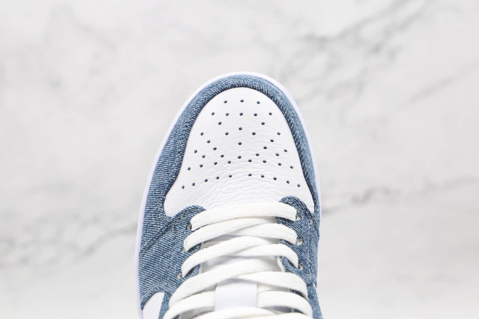 乔丹Air Jordan 1 Low纯原版本低帮AJ1牛仔生胶底板鞋原楦头纸板打造 货号:315921-141