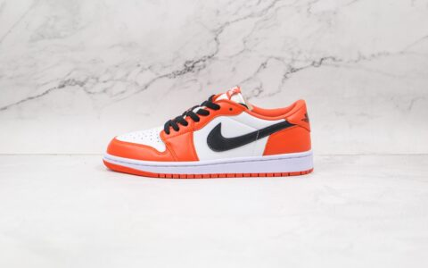 纯原版本乔丹Aj1低帮白橙黑扣碎板鞋出货