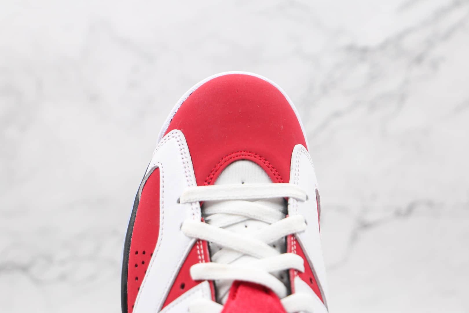 乔丹Air Jordan 6 Retro Carmine纯原版本高帮AJ6胭脂红篮球鞋原档案数据开发 货号:CT8529-106