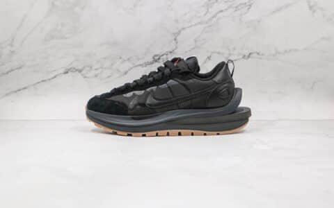 耐克Nike VaporWaffle x Sacai联名款纯原版本华夫三代黑色双钩老爹鞋原楦头纸板打造 货号:DD1875-001