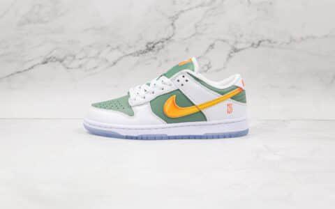 耐克Nike Dunk Low'NY vs. NY纯原版本低帮DUNK白绿黄色纽约对纽约配色板鞋原盒原标 货号:DN2489-300