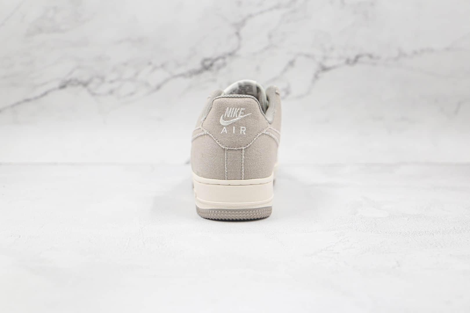 耐克Nike Air Force 1 Low纯原版本低帮空军一号灰白拼接帆布板鞋内置气垫 货号:BQ5806-228