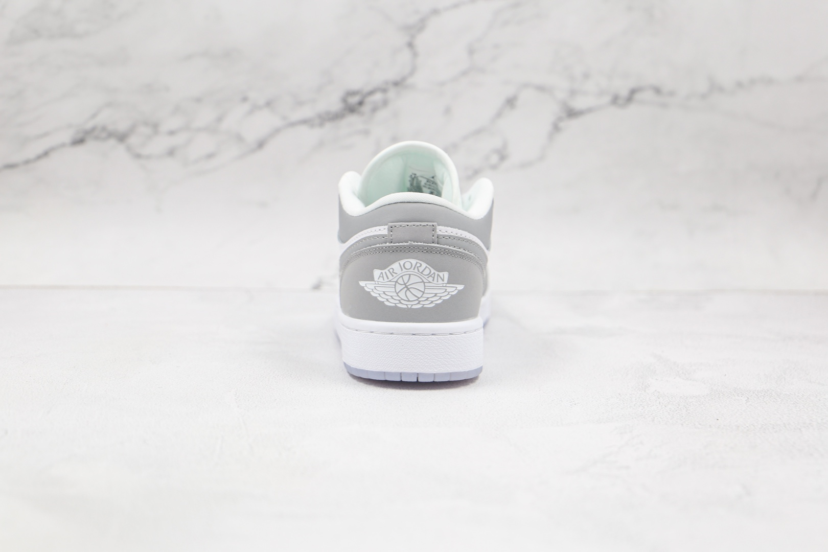 乔丹Air Jordan 1 Low Wolf Grey纯原版本低帮AJ1烟灰白色板鞋原盒原标 货号:DC0774-105