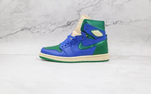 乔丹Air Jordan 1 Zoom纯原版本高帮AJ1蓝绿加州ZOOM板鞋原档案数据开发 货号:DJ1199-400