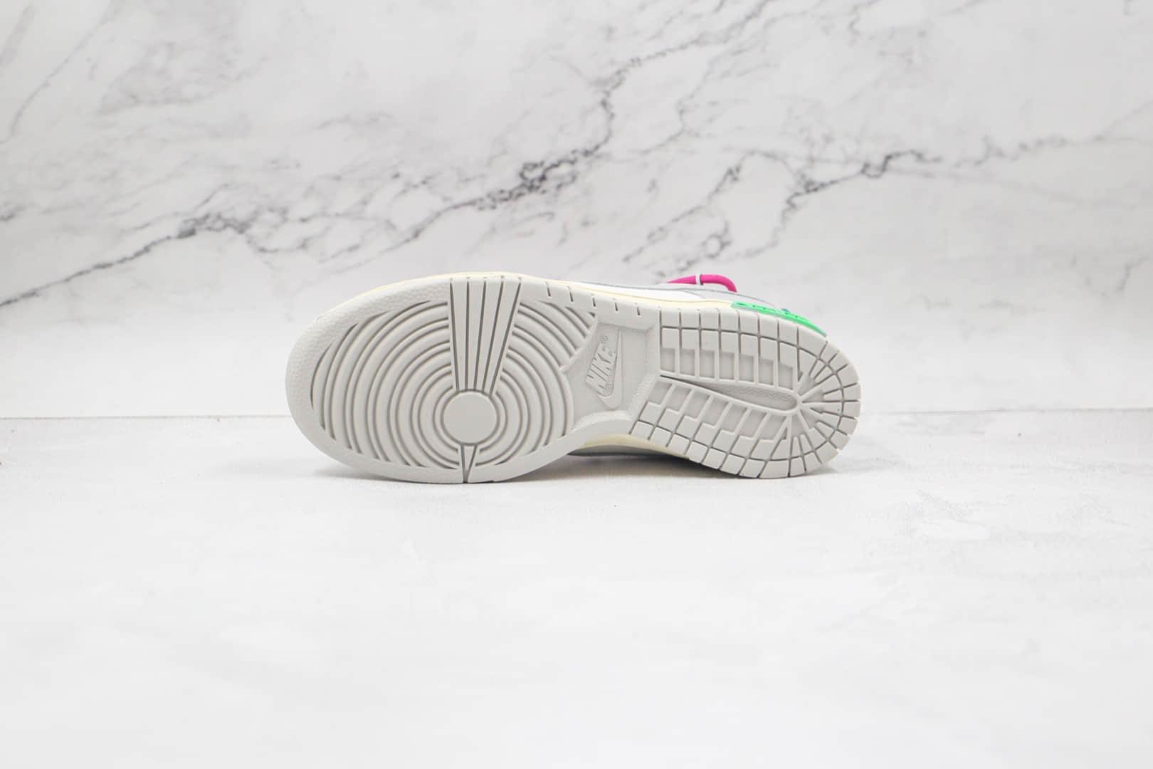 耐克Nike Dunk Low x OFF-WHITE x Futura三方联名款纯原版本低帮SB DUNK灰白紫色板鞋原盒原标 货号:DM1602-106