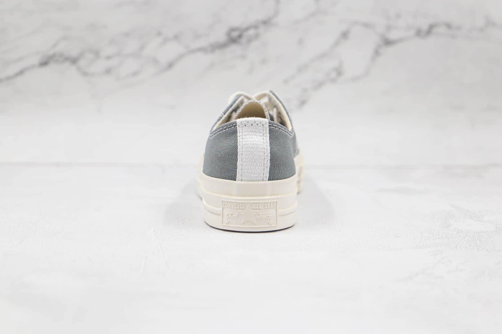 匡威Converse x Cdg Comme des Garçons Play联名款公司级版本川久保玲铁灰色硫化帆布鞋原鞋开模