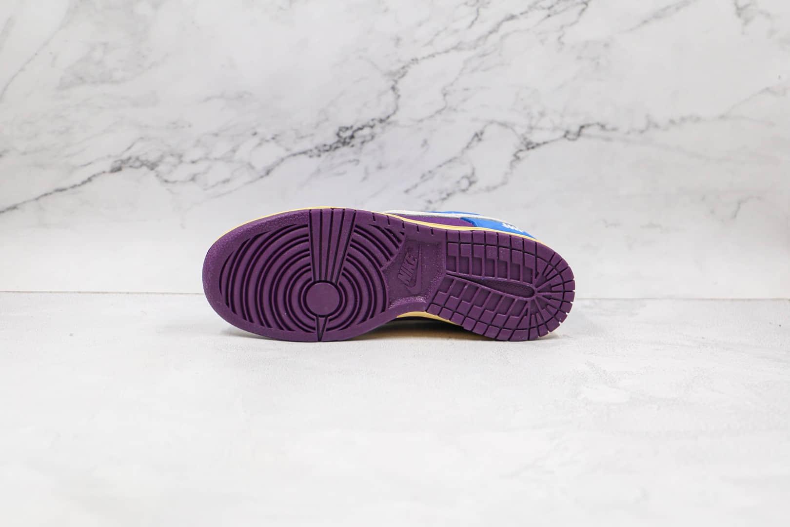 耐克UNDEFEATED x Nike SB Dunk Low纯原版本联名SB Dunk板鞋蓝紫蛇纹原厂头层皮料 货号:DH6508-400