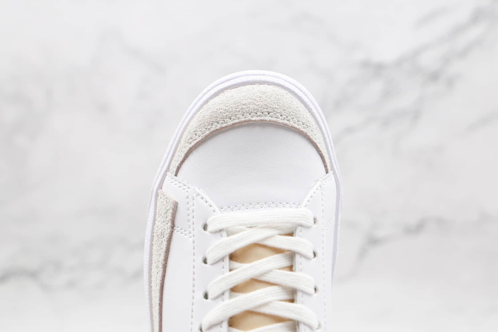 耐克Nike Blazer Low '77 Vintage纯原版本开拓者低帮板鞋白紫色原标原盒 货号:DC4769-103