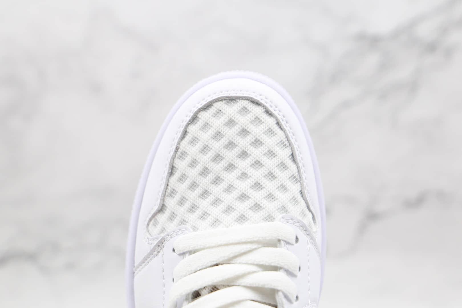 乔丹Air Jordan 1 Low纯原版本低帮AJ1网面白色原鞋开模 货号:DC9508-100