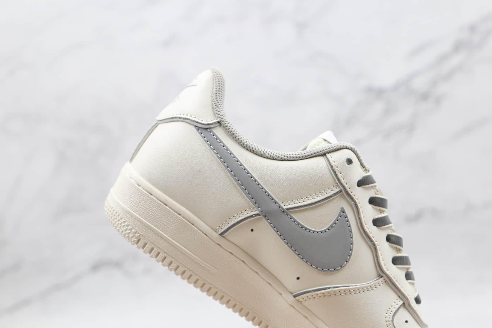 耐克Nike Air Force 1 Low '07纯原版本空军一号低帮AF1白灰色3M反光内置solo气垫 货号:BQ8228-366