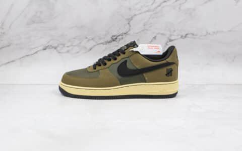 """耐克Undefeated x Nike Air Force 1""""Ballistic""""纯原版本五道杠联名空军一号低帮AF1军绿色原盒配件 货号:DH3064-300"""