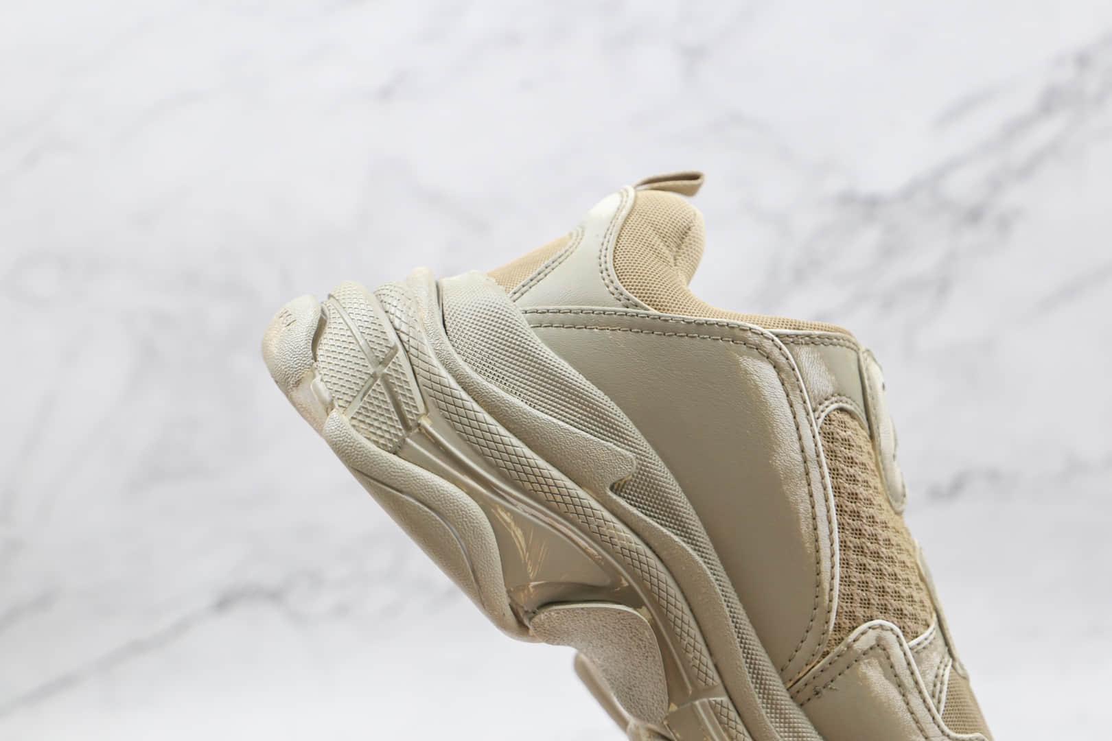 巴黎世家Balenciaga Triple S纯原版本初代白灰色做旧脏鞋老爹鞋原楦头纸板打造