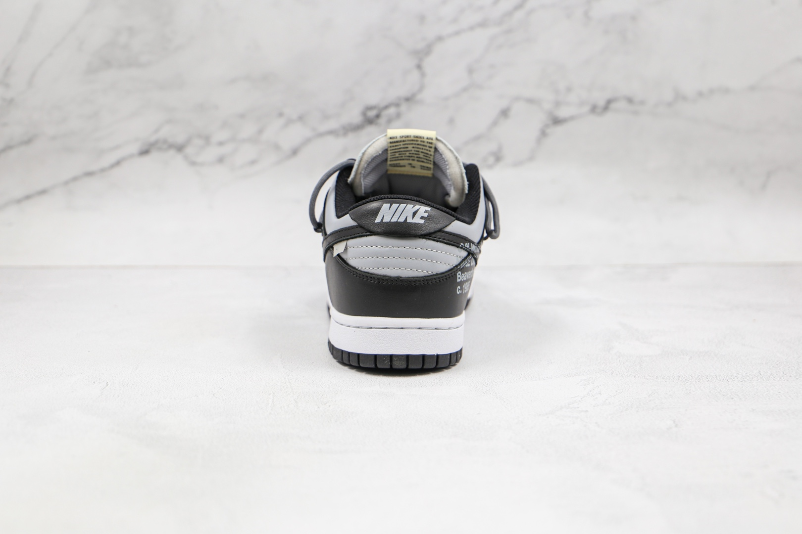 耐克Nike SB Dunk Low Black x OFF-WHITE x Futura三方联名款纯原版本OW SB DUNK黑灰色板鞋原盒原标 货号:CT0856-007