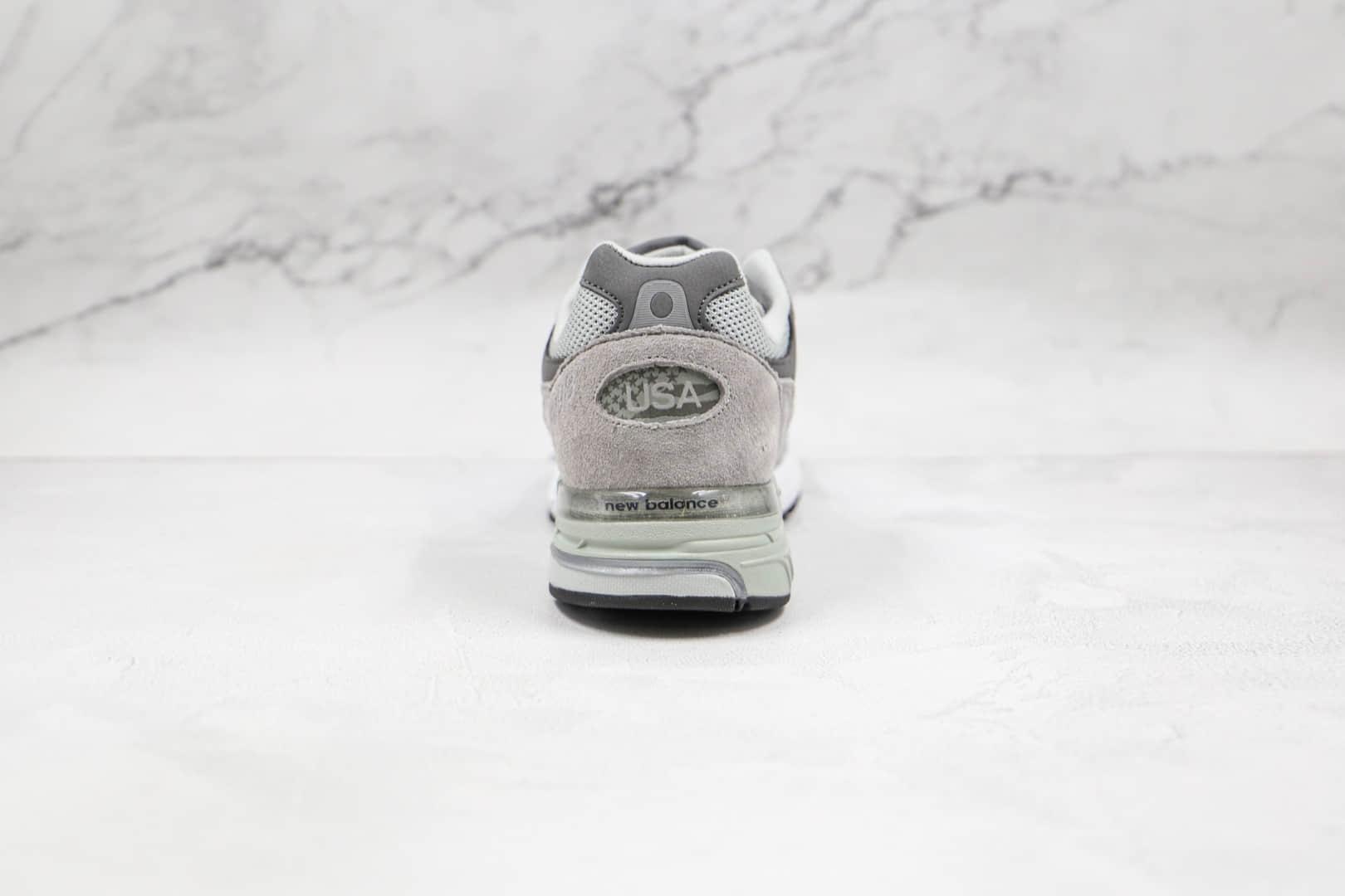 新百伦New Balance 993纯原版本复古NB993元组灰配色老爹鞋原楦头纸板打造 货号:MR993GL
