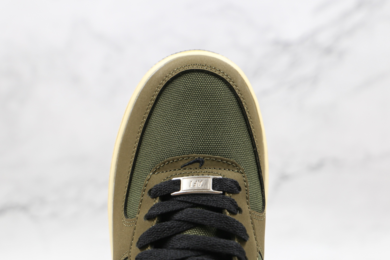 耐克Nike Air Force 1' 07纯原版本低帮空军一号军绿色五道杆联名板鞋原楦头纸板打造 货号:DH3064-300