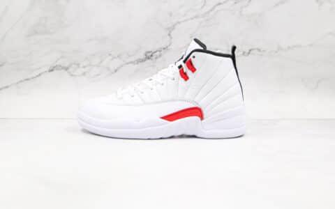 纯原版本乔丹AJ12白红色实战篮球鞋出货