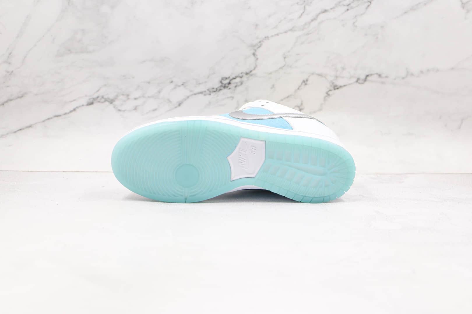 耐克Nike SB Dunk Low Pro QS x FTC联名款纯原版本低帮SB DUNK白蓝色网格板鞋内置气垫 货号:DH7687-400