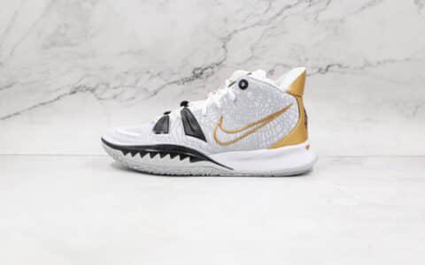 纯原版本耐克欧文7代白黑金色实战篮球鞋出货
