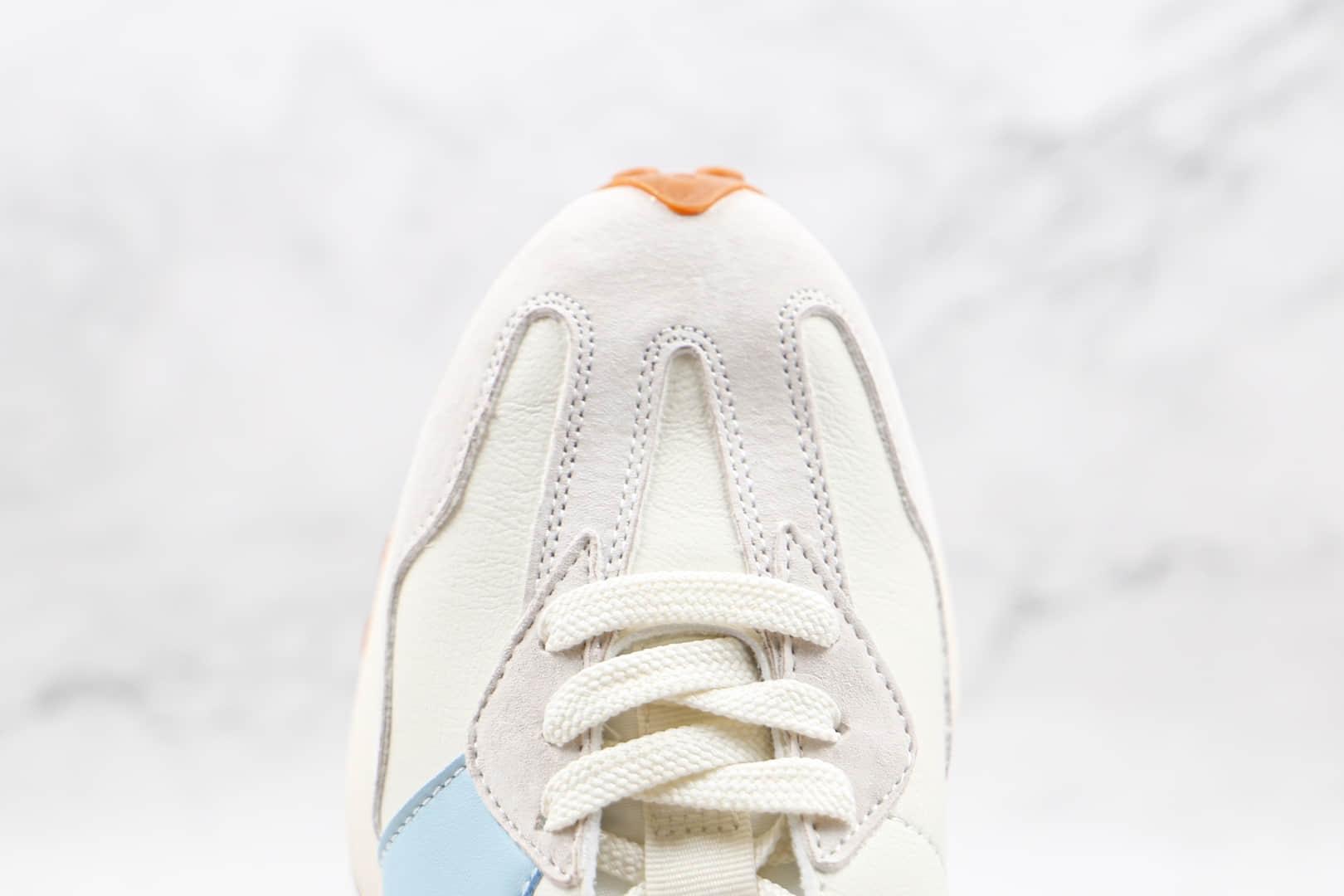 新百伦New Balance 327纯原版本复古NB327白蓝色皮面慢跑鞋原楦头纸板打造 货号:MS327SZ