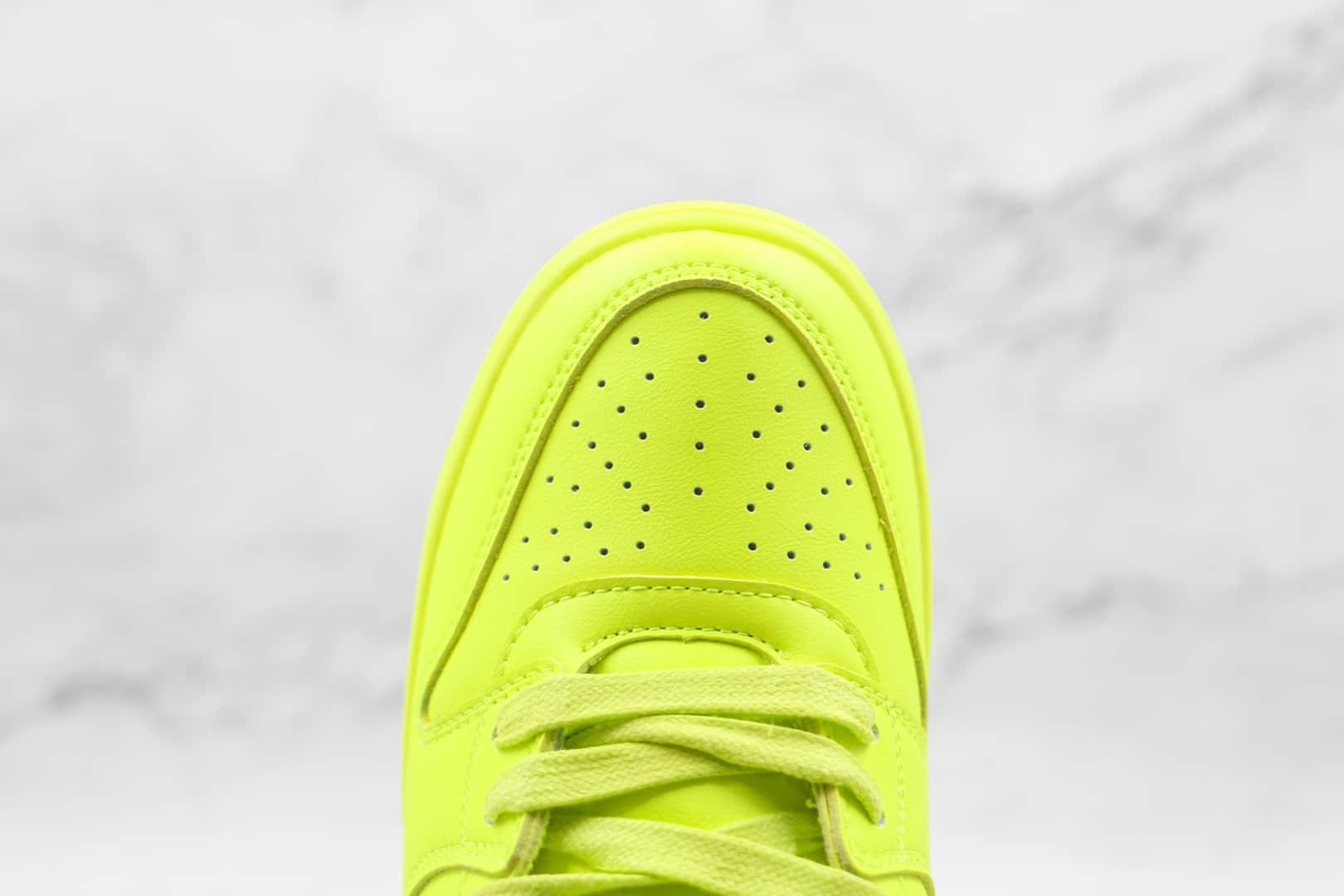 耐克Nike Dunk High x AMBUSH联名款纯原版本高帮DUNK荧光绿黑钩板鞋原盒原标 货号:CU7544-300