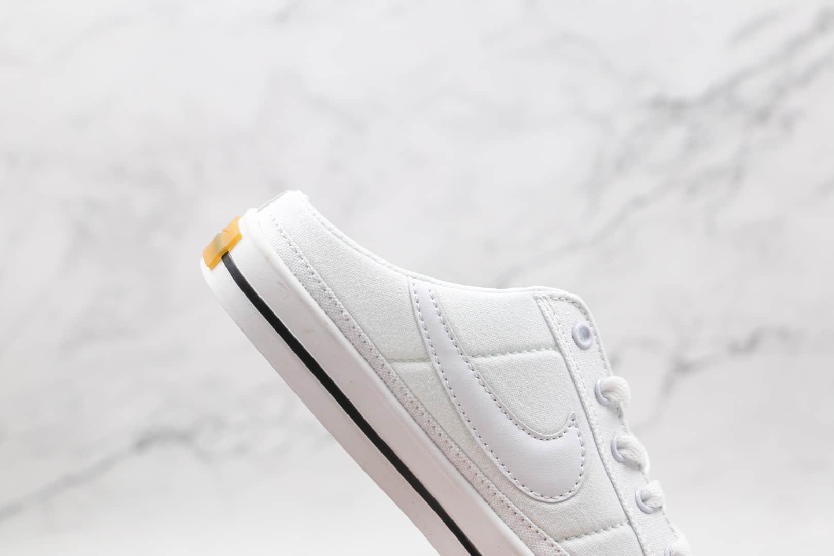 耐克Nike Court Legacy公司级版本半拖帆布板鞋白色 货号:DB3970-100