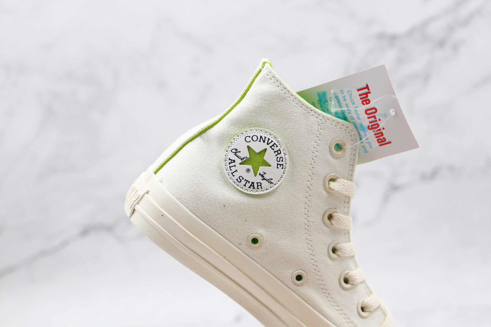 匡威Converse All star cosmoinwhite公司级版本日系限定高帮板鞋白绿色原厂硫化工艺