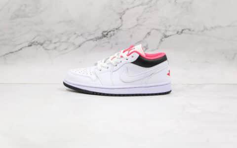 乔丹Air Jordan 1 Low纯原版本低帮AJ1白黑红色板鞋原鞋开模一比一打造 货号:553560-160