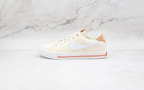 耐克Nike Court Legacy纯原版本帆布鞋米白复古板鞋原盒原标 货号:DC7904-100