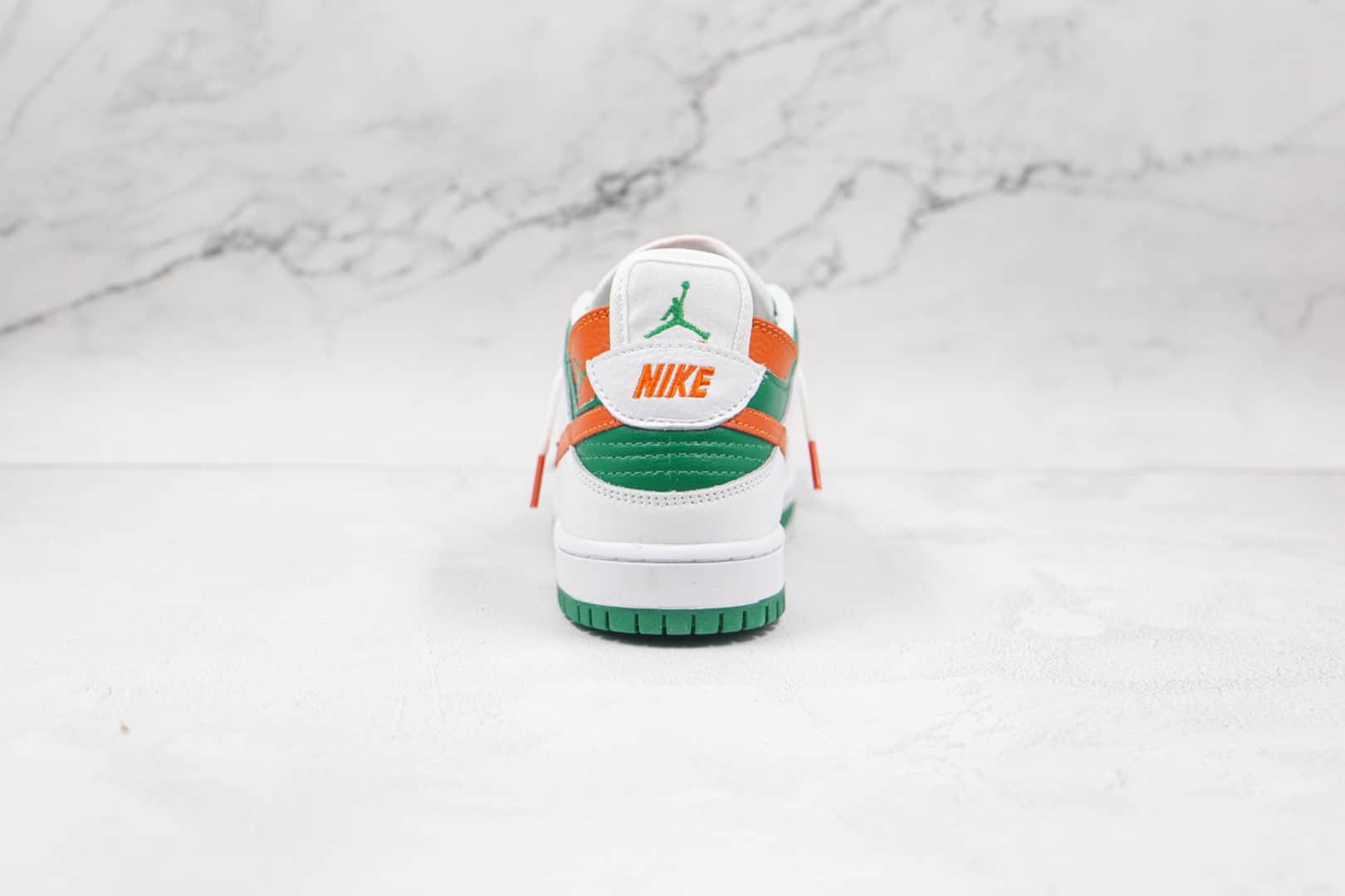 耐克Nike SB Dunk Low Custom Turdunken x Ziv Lee联名款纯原版本低帮SB DUNK断钩白绿色板鞋原盒原标 货号:304292-040