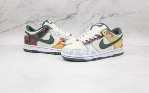 耐克Nike Dunk Low SE Mixed Camo纯原版本低帮DUNK鸳鸯迷彩拼接板鞋原楦头纸板打造 货号:DH0957-100