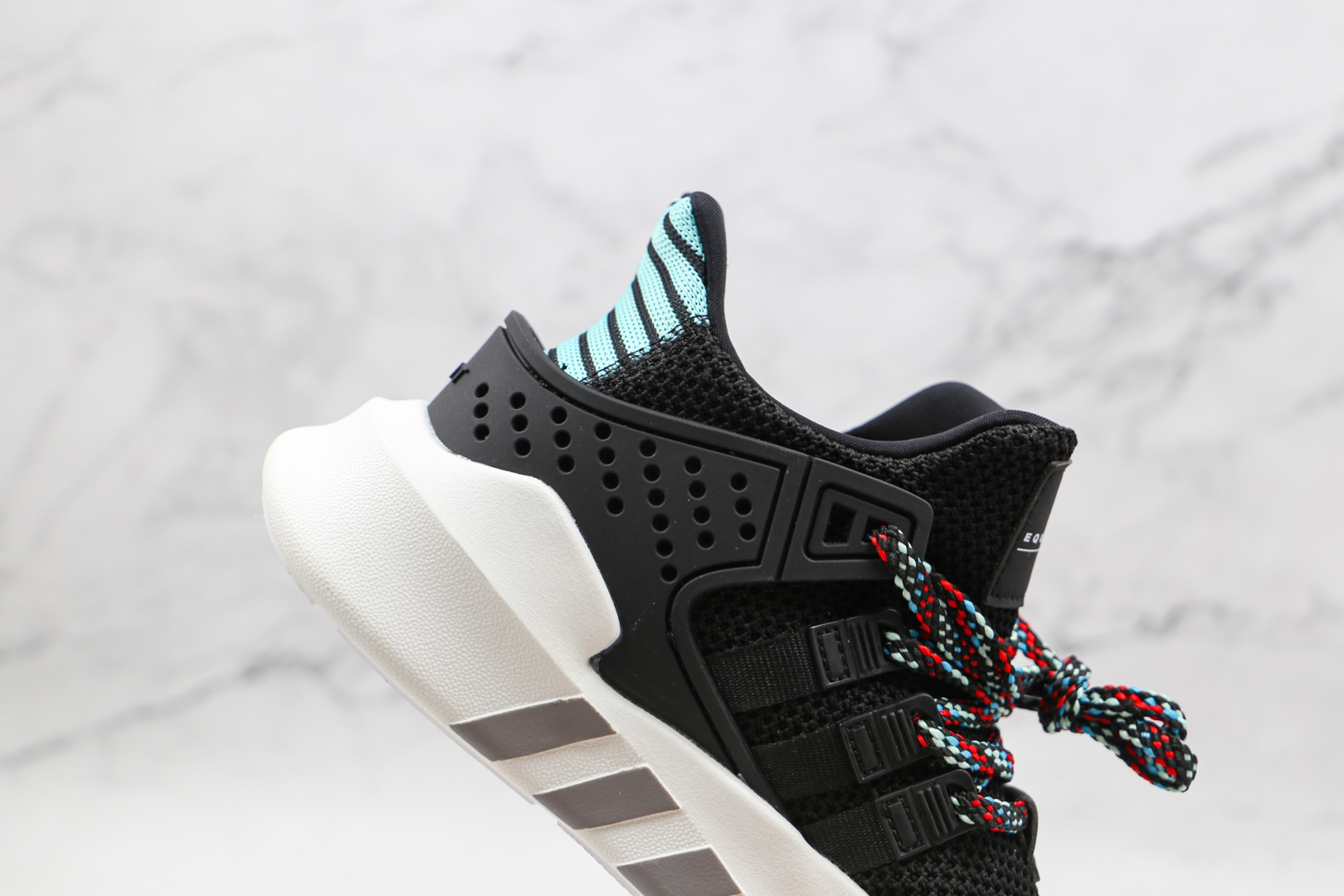 阿迪达斯Adidas EQT BASK ADV纯原版本三叶草支撑者系列黑绿色EQT慢跑鞋原楦头纸板打造 货号:CQ2993